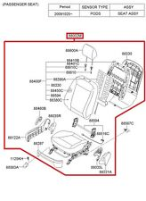 Genuine Hyundai 89700-4Z000-R3X Seat Headrest Assembly Rear