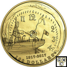 2017 Proof $100 Gold Coin 14K '100th Anniversary of the Halifax Explosion(18008)
