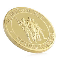 Gold Plated Marine Corps Washington Vietnam Memorial Soldier Commemorative Coin