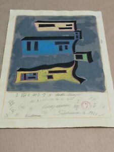Lothar Schreyer, Bauhaus drawing with notations