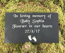 Personalised Engraved Slate Baby Memorial Grave Marker Plaque