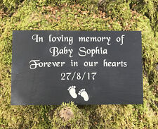 Personalised Engraved Slate Baby Child Memorial Grave Marker Plaque