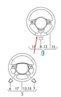 Audi A6 C7 Multifunzione Volante Pelle 8X0419091LRRI Nuovo Originale