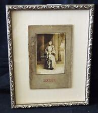 "1900 Chinese Framed B&W Photo ""Young Woman"" by Yun Chun Photo Studio (Mil)"