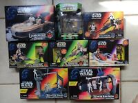 Star Wars POTF Vehicles Landspeeder ,Bikes, Playset & Boba Fett 100th