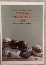 Porsche Marken-Weltmeister 1983/Helmets Postcard1st On eBay Car Poster. Own It