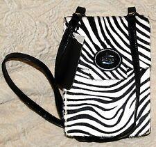 New Bodhi Zebra $209 Flat Handbag Crossbody Patent leather Black & White