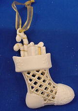 Wedgwood Pierced Porcelain & Gold Stocking Ornament Nib!