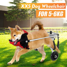 Small Stainless Steel Dog Wheelchair For Handicapped Hind Legs Pet Dog Cat 5-6kg