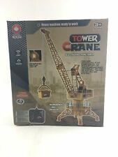 DIY Electric Tower Crane Remote Control Engineering Vehicle Toy Set -4416