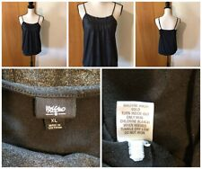 Mossimo Misses Jr XL Black Silver Shimmer Adjustable Strap Banded Camisole