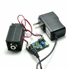 Focusable 450nm 2W 2000mw Blue Laser Dot Module w/Driver & TTL+12V AC adapter