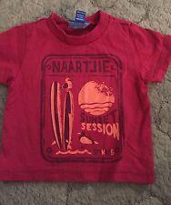 Naartjie Kids Boys Short Sleeve T-shirt Size 3-6 Months Surfboard