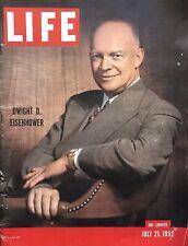 VINTAGE 1952 LIFE MAGAZINE EISENHOWER COVER FASHION TERRIFIC ADS