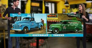 1953 Chevrolet Pickup Truck Dealer Garage Banner Chevy SBC