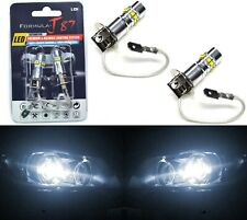 LED 50W H3 White 5000K Two Bulbs Fog Light JDM Color Replacement Plug Play