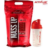 Mass Up 3500g Anabolic Weight Gainer BCAA Powder Free Shaker & Europe Shipping