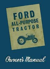 Ford 2000 & 4000 Tractor Operator's Manual Color - Coil Binding