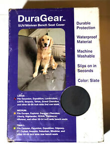Duragear SUV bench seat cover, NIB, microvelvet slate color, size Large