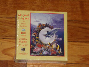 "New SunsOut 100 Piece Puzzle ""Magical Kingdom"" Ocean Scene with Dolphins Sealed"
