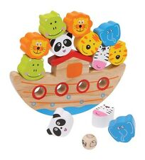 Noah's Ark Balancing Game Wooden Animal Stacking Balance Toy For All The Family