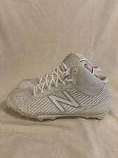New listing New Balance Men's Grey White  Mid-Cut Burn X Lacrosse Cleats Sz 13