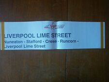 Virgin Trains Window Label-Liverpool Lime Street (from London Euston) L/402