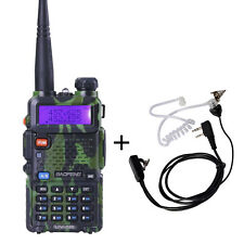 BaoFeng UV-5R Portable Dual-Band Ham Two Way Radio Camouflage+ Air Tube Earphone