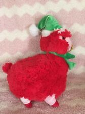 "Nwt New Sugar loaf Plush Llama Christmas holiday Alpaca 11"" Kellytoy red green"