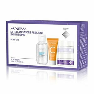 AVON ANEW Platinum Lifted & More Resilient Skin Care Mini Kit Age 50+ NEW