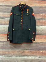 USMC US MARINE CORPS ENLISTED DRESS BLUES UNIFORM JACKET 38XL