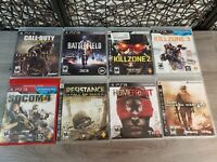 LOT OF 8 PLAYSTATION 3 PS3 SHOOTER GAMES COMPLETE CALL DUTY KILLZONE SOCOM MORE