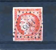 "FRANCE  STAMP TIMBRE N° 5 "" CERES 40c ORANGE "" OBLITERE PC 1195 TB SIGNE  D021"
