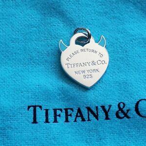 "Tiffany & CO Return to Tiffany ""Devil"" heart charm. Tiffany blue enamel"