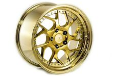 AODHAN DS01 18x9.5 5x114.3 GOLD RIMS FLUSH FIT TOYOTA CAMRY AVALON SUPRA SOLORA