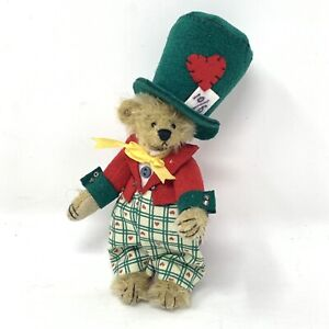 "Deb Canham Artist Designs Miniature Teddy Bear Alice Mad Hatter 4 1/2"""