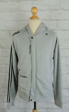 ADIDAS - Men's Adidas Clima 365 Grey Three Stripe  Hoodie - Large
