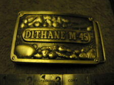 Dithane M-45 Heavy Pewter Belt Buckle  Complimetes of Rohm Haas