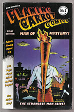 Rare Signed Bob Burden The Flaming Carrot Comics Man of Mystery 1 VGFN 1st Print