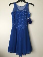 Icings NWT ROYAL BLUE ICE ROLLER DANCE SKATING  DRESS Adult Small