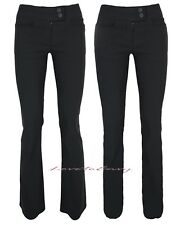 Ladies Long Leg Tall Good Quality STRETCH Fit Black Work Office School Trousers.