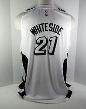 Mens Miami Heat Hassan Whiteside #21 Replica White Tie Swingman Jersey XXL 0012