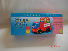 Discovery Toys Shape & Go Fire Truck #1892 24 Mos To Preschool Unisex Nla