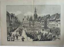 1883 Unveiling The Statue Of Luther In The Marketplace, Eisleben Germany