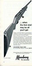 1966 Print Ad of Mossberg Chuckster Model 640K .22 Magnum Rifle