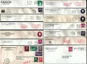 USA United States 1950's 14 Envelopes Railway Railroad Company & House of Reps