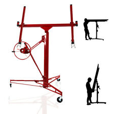 11FT Panel Lift Lifter Tool Drywall Hoist Plaster Board Sheet Dry Wall Caster