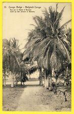 cpa Timbre Pré imprimé CONGO BELGE BELGISCH CONGO Vue sur le FLEUVE à BANANA