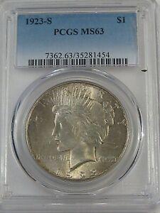 BU 1923-s Peace Dollar PCGS MS63. #9