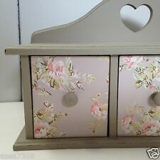 Shabby Chic Flowery Grey 3  Chest / Cupboard / Cabinet